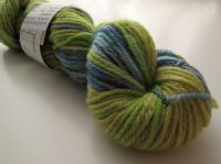 Apples And Pears BFL DK - Lime green with purple